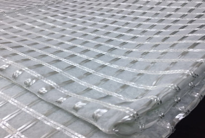 Warp knitted composite geogrid